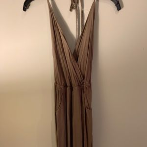 Lulu's Olive Strappy Halter Jumper, Gently Worn